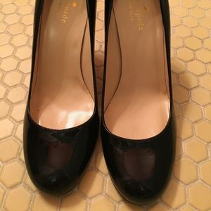 Kate Spade Black Patent Leather Round Toe Heels